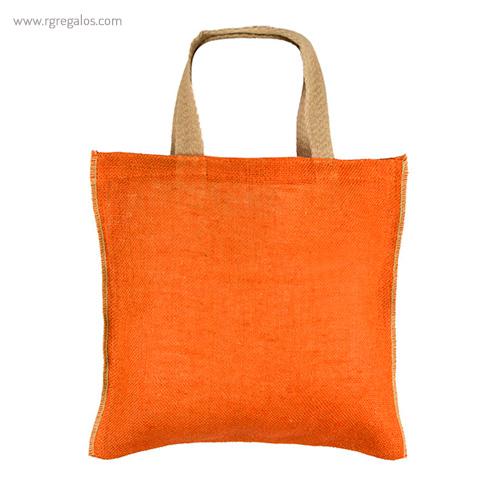 Bolsa de yute alta calidad naranja - RG regalos publicitarios
