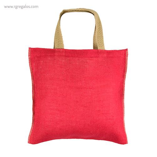 Bolsa de yute alta calidad roja - RG regalos publicitarios