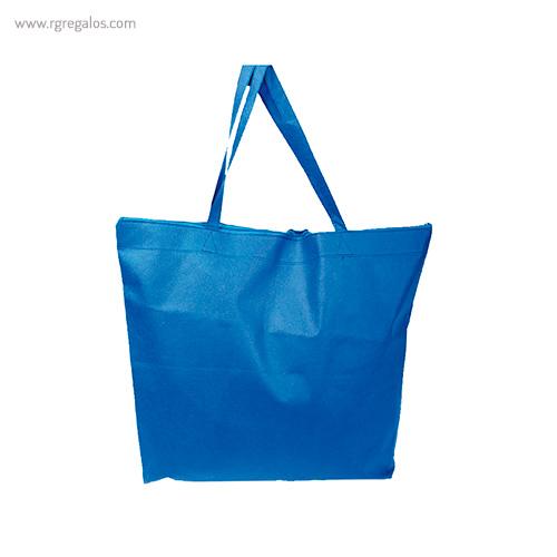 Bolsa publicitaria cierre cremallera azul - RG regalos publicitarios