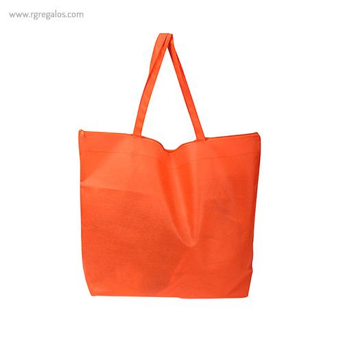 Bolsa publicitaria cierre cremallera naranja - RG regalos publicitarios