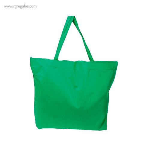 Bolsa publicitaria cierre cremallera verde - RG regalos publicitarios