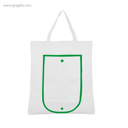 Bolsa publicitaria plegable non woven blanca abierta - RG regalos publicitarios