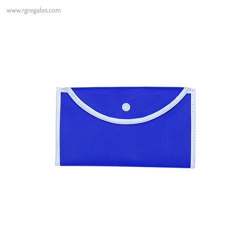 Bolsa publicitaria plegable non woven cerrrada azul - RG regalos publicitarios