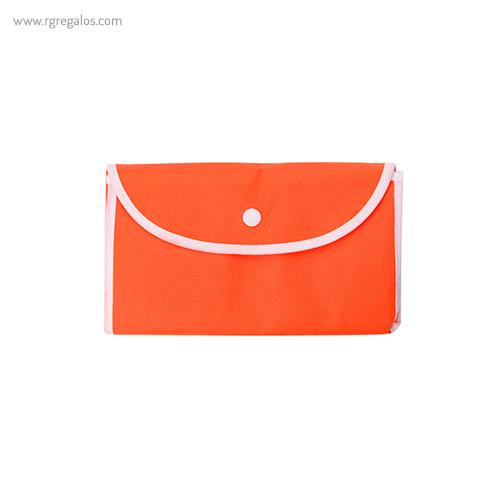 Bolsa publicitaria plegable non woven cerrrada naranja - RG regalos publicitarios