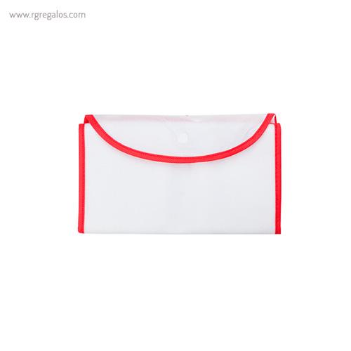 Bolsa publicitaria plegable non woven cerrrada roja - RG regalos publicitarios