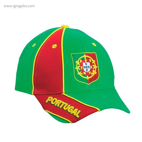 Gorra países con escudo Portugal - RG regalos publicitarios