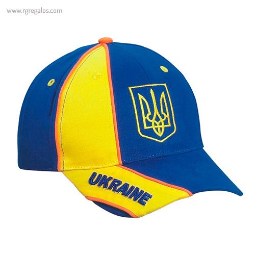 Gorra países con escudo Ucraina - RG regalos publicitarios