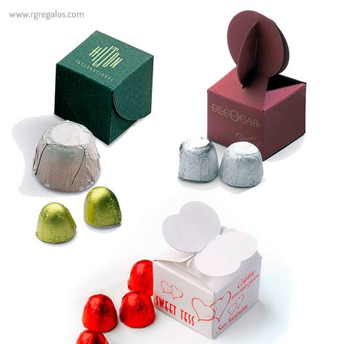 Mini estuches de bombones - RG regalos publicitarios