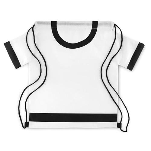 Mochila saco en forma de camiseta blanca- RG regalos publicitarios