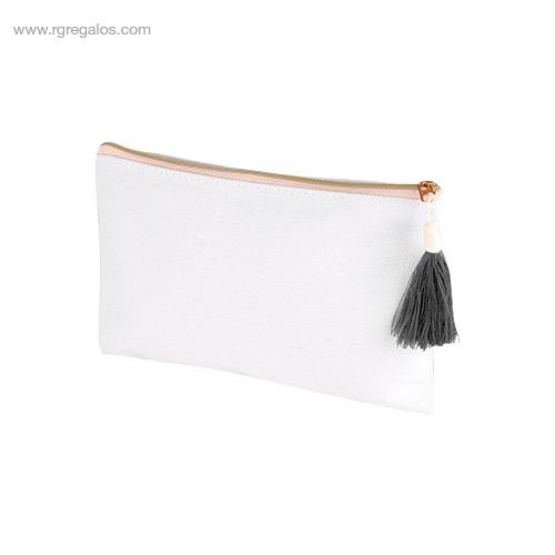 Neceser algodón con borla gris - RG regalos