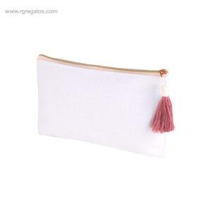 Neceser algodón con borla rosa - RG regalos