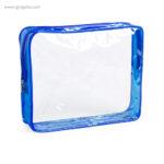 Neceser en PVC transparente azul - RG regalos publicitarios