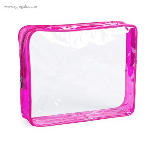 Neceser en PVC transparente fucsia - RG regalos publicitarios