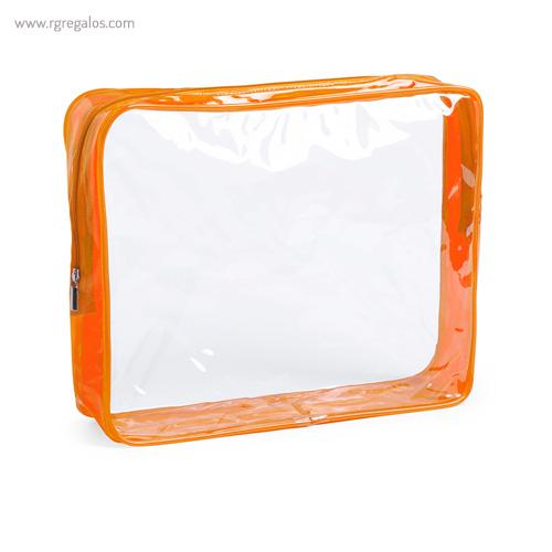 Neceser en PVC transparente naranja - RG regalos publicitarios