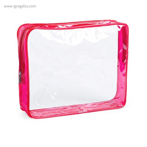Neceser en PVC transparente rojo - RG regalos publicitarios