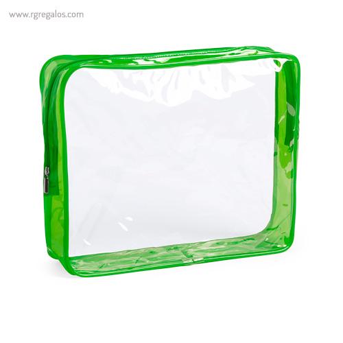 Neceser en PVC transparente verde - RG regalos publicitarios