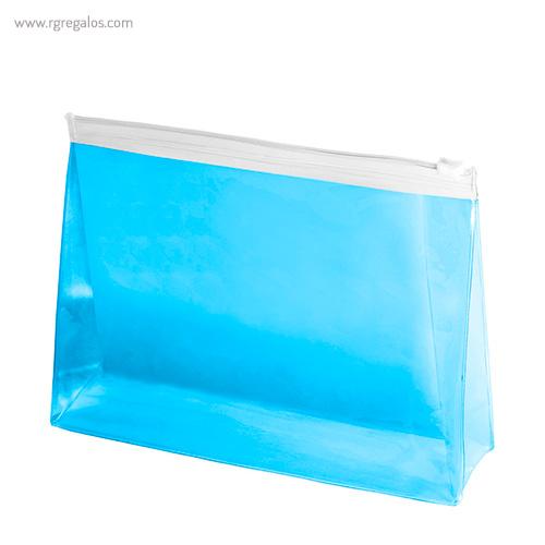 Neceser en pvc translúcido azul - RG regalos publicitarios