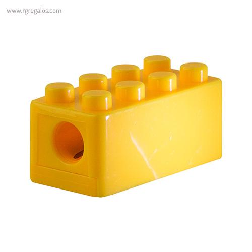 Sacapuntas formas construcción amarillo detalle - RG regalos publicitarios