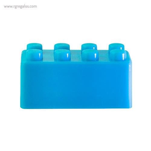 Sacapuntas formas construcción azul - RG regalos publicitarios