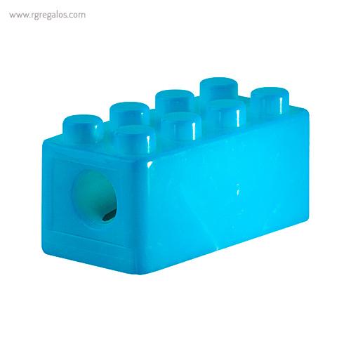 Sacapuntas formas construcción azul detalle - RG regalos publicitarios