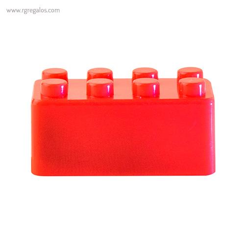Sacapuntas formas construcción rojo - RG regalos publicitarios