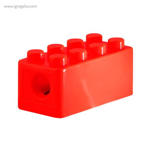 Sacapuntas formas construcción rojo detalle - RG regalos publicitarios