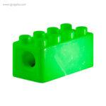 Sacapuntas formas construcción verde detalle - RG regalos publicitarios