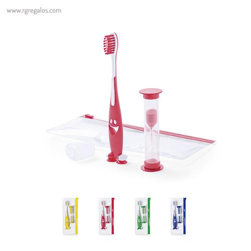 Set cepillo de dientes infantil azul - RG regalos promocionales