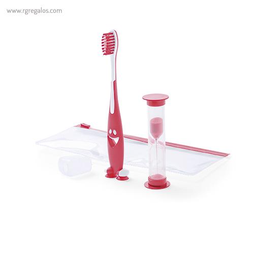 Set cepillo de dientes infantil amarillo - RG regalos promocionales