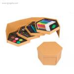 Set de pinturas con caja hexagonal - RG regalos publicitarios