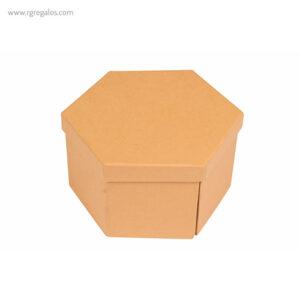 Set de pinturas con caja hexagonal de cartón - RG regalos publicitarios