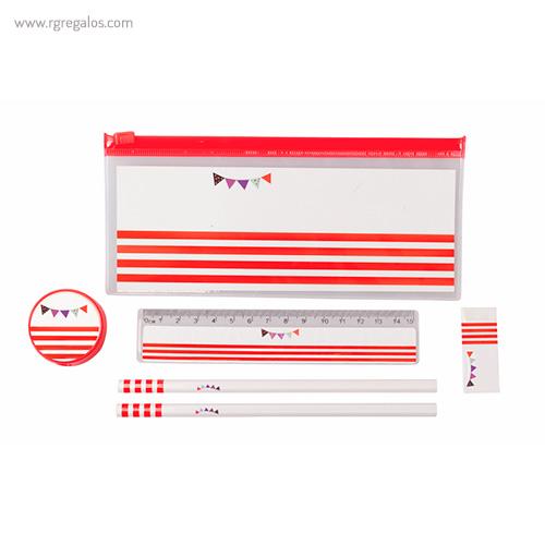 Set escritura detalles infantiles rojo - RG regalos publicitarios
