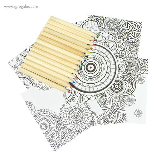 Set para pintar mandala colores y papel - RG regalos publicitarios