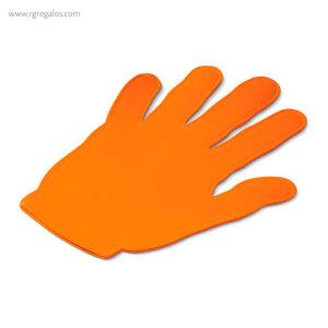 Mano publicitaria para eventos naranja - RG regalos publicitarios