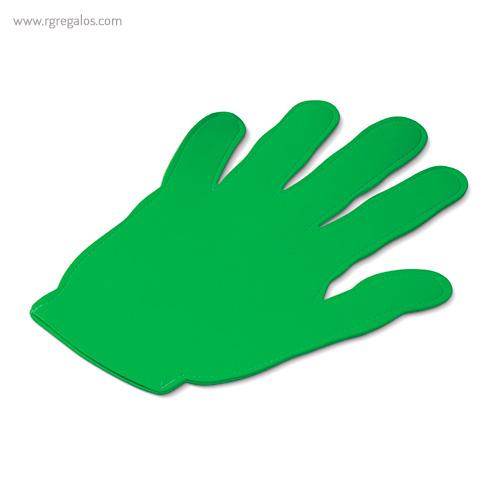 Mano publicitaria para eventos verde - RG regalos publicitarios