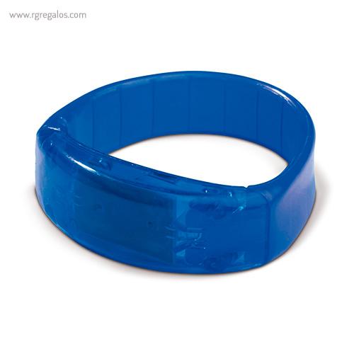 Pulsera publicitaria con luces azul - RG regalos publicitarios