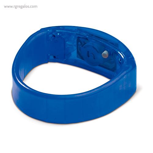 Pulsera publicitaria con luces azul detalle - RG regalos publicitarios