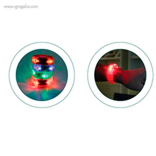 Pulsera publicitaria con luces luces- RG regalos publicitarios