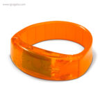 Pulsera publicitaria con luces naranja - RG regalos publicitarios