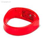 Pulsera publicitaria con luces rojo retalle - RG regalos publicitarios