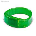 Pulsera publicitaria con luces verde - RG regalos publicitarios