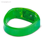 Pulsera publicitaria con luces verde detalle - RG regalos publicitarios