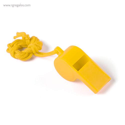 Silbato con cordón amarillo - RG rgalos publicitarios