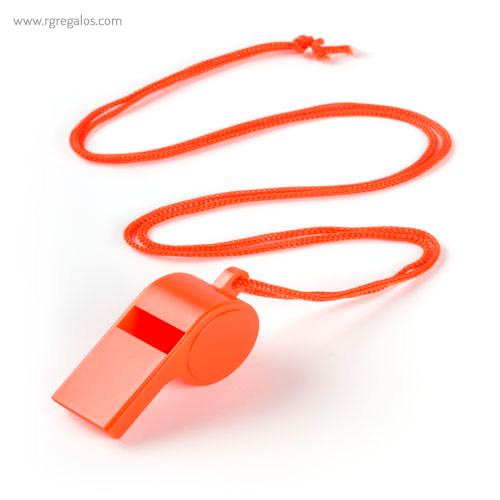 Silbato con cordón naranja - RG rgalos publicitarios