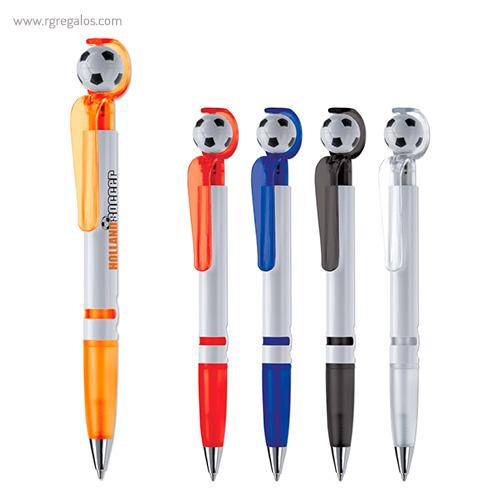 Bolígrafo con pelota de fútbol - RG regalos publicitarios