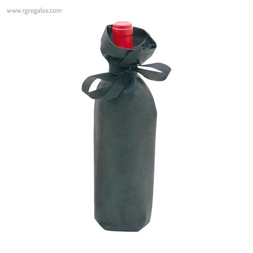Bolsa personalizada para vino negra - RG regalos publicitarios