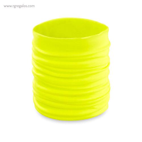 Braga para cuello fluorescente amarillo- RG regalos publicitarios