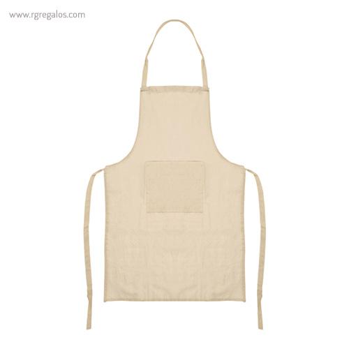 Delantal algodón con bolsillo beige - RG regalos publicitarios