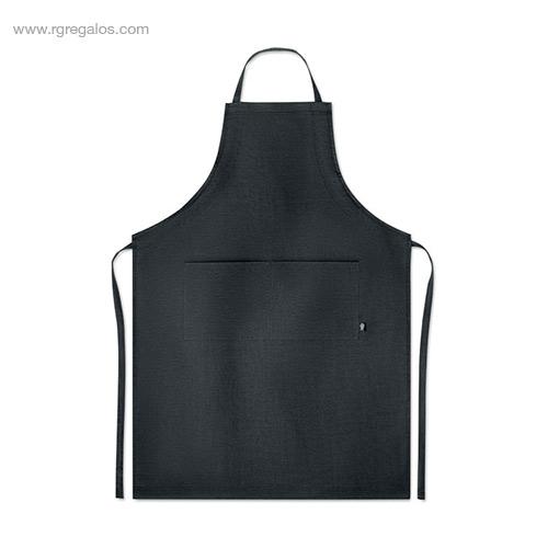 Delantal-cocina-de-cáñamo-negro-RG-regalos-de-empresa