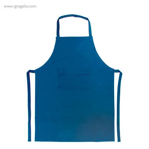 Delantal largo de algodón azul - RG regalos publicitarios